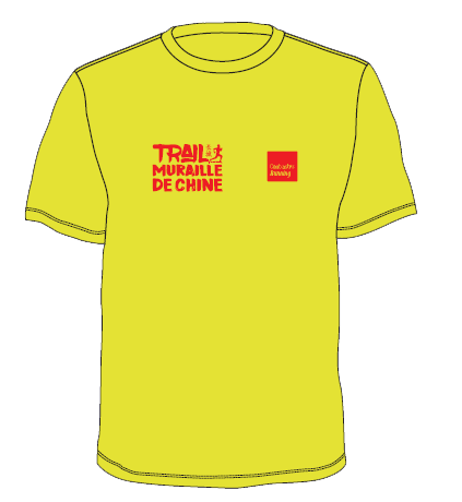 t shirt trail chine jaune face